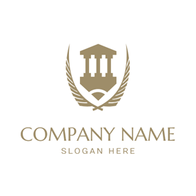 Brown Branch and Building logo design