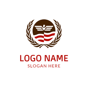 Brown Branch and White Eagle logo design