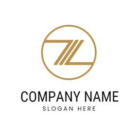 Brown Circle and Abstract Letter Z logo design