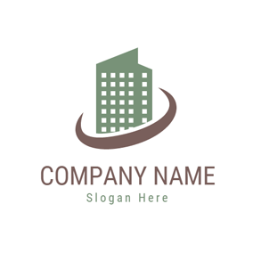 Brown Circle and Green Tenement logo design