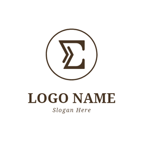 Brown Circle and Sigma logo design
