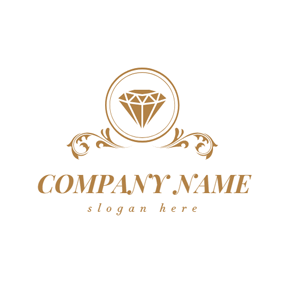 Brown Decoration and Diamond logo design