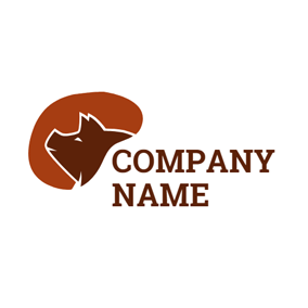 Brown Decoration and Pig Head logo design
