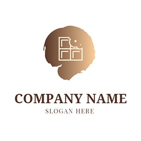 Brown Decoration and White Chocolate logo design