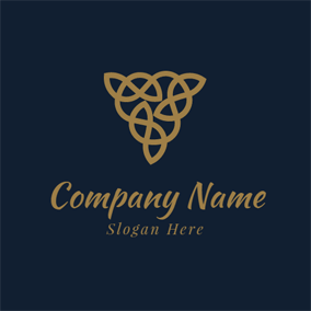Brown Downward Pointing Triangle logo design