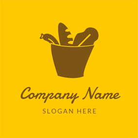 Brown Flower Pot logo design