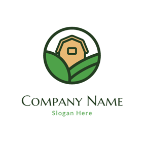 Brown House and Green Field logo design