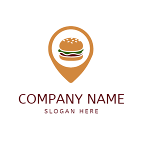 Brown Pointer and Delicious Burger logo design