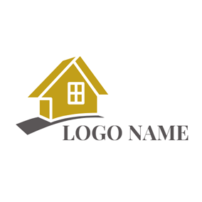 Brown Road and Yellow House logo design