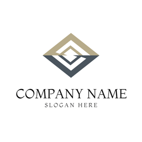 Brown Square and Accounting logo design