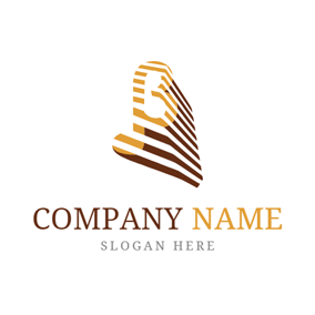 Brown Stripe and Beta logo design