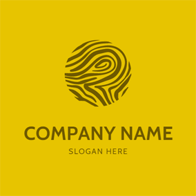 Brown Texture Wood logo design