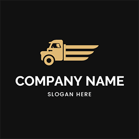 Brown Truck and Speed logo design