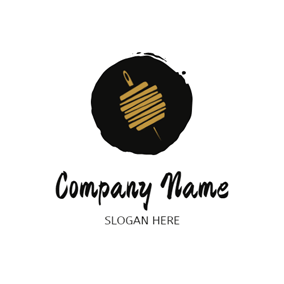 Brush Needle and Thread logo design