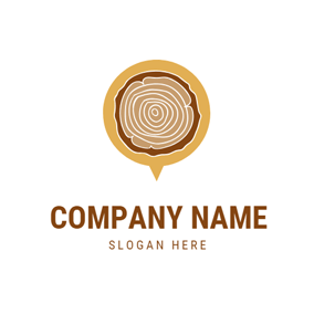 Bubble Shape and Woodworking logo design