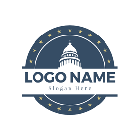 Building and Government Badge logo design