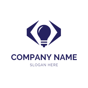 Bulb and Code Symbol logo design