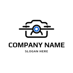 Camera Shape and Drone logo design