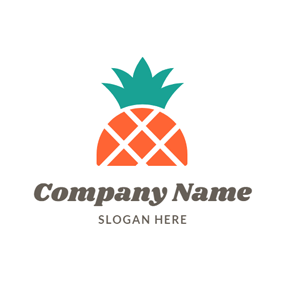 Cartoon and Colorful Pineapple logo design