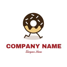 Cartoon Chocolate Doughnut logo design