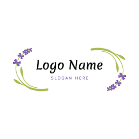 Cartoon Flower Lavender logo design