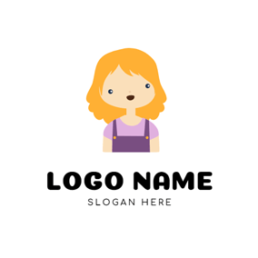 Cartoon Girl and Anime logo design