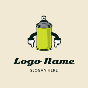 Cartoon Paint Bottle logo design