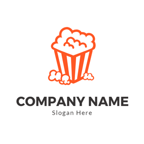 Cartoon Painting and Popcorn logo design