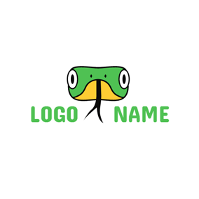 Cartoon Snake Head logo design