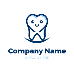 Cartoon Tooth and Dental Clinic logo design