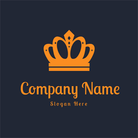 Catchy Yellow Royal Crown logo design