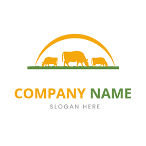 Cattle and Grass logo design