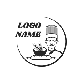Chef and Rolling Pin logo design
