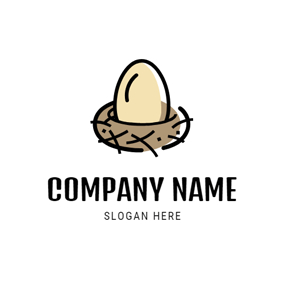 Chicken Coop and Egg logo design
