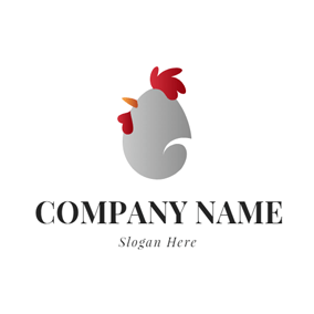 Chicken Shape and Egg logo design