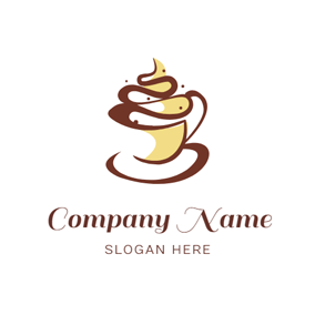 Chocolate and Cream Cake logo design