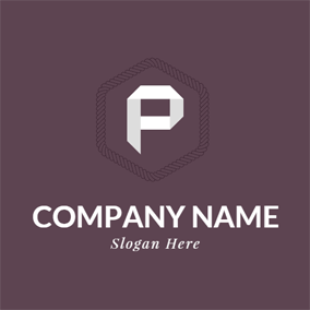 Chocolate and White Letter P logo design