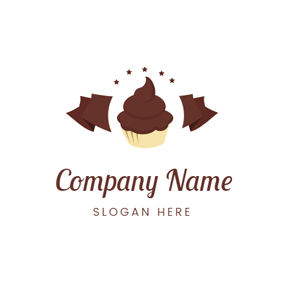 Chocolate Bar and Cupcake logo design