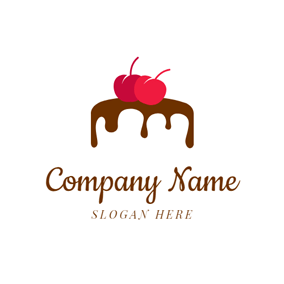 Chocolate Cream and Cherry logo design