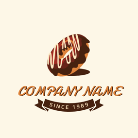 Chocolate Doughnut Icon logo design