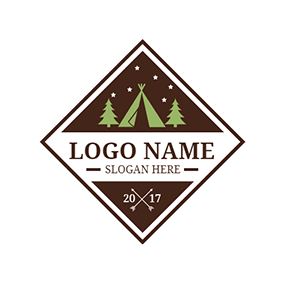 Chocolate Frame and Christmas Tree logo design