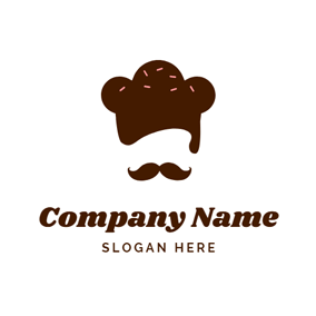 Chocolate Hat and Beard logo design