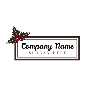 Chocolate Leaf and Christmas Card logo design