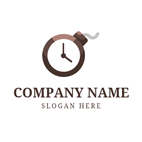 Chocolate Pointer and Brown Bomb logo design