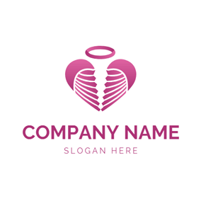 Circle and Angel Wing logo design