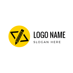 Circle and Code Symbol logo design