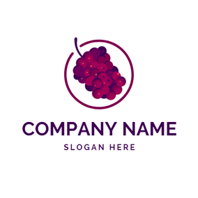 Circle and Fresh Mulberry logo design