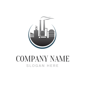 Circle and Industrial Factory logo design