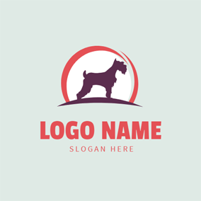 Circle and Purple Dog logo design
