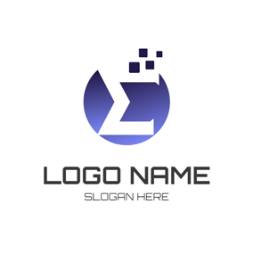 Circle and Sigma Icon logo design